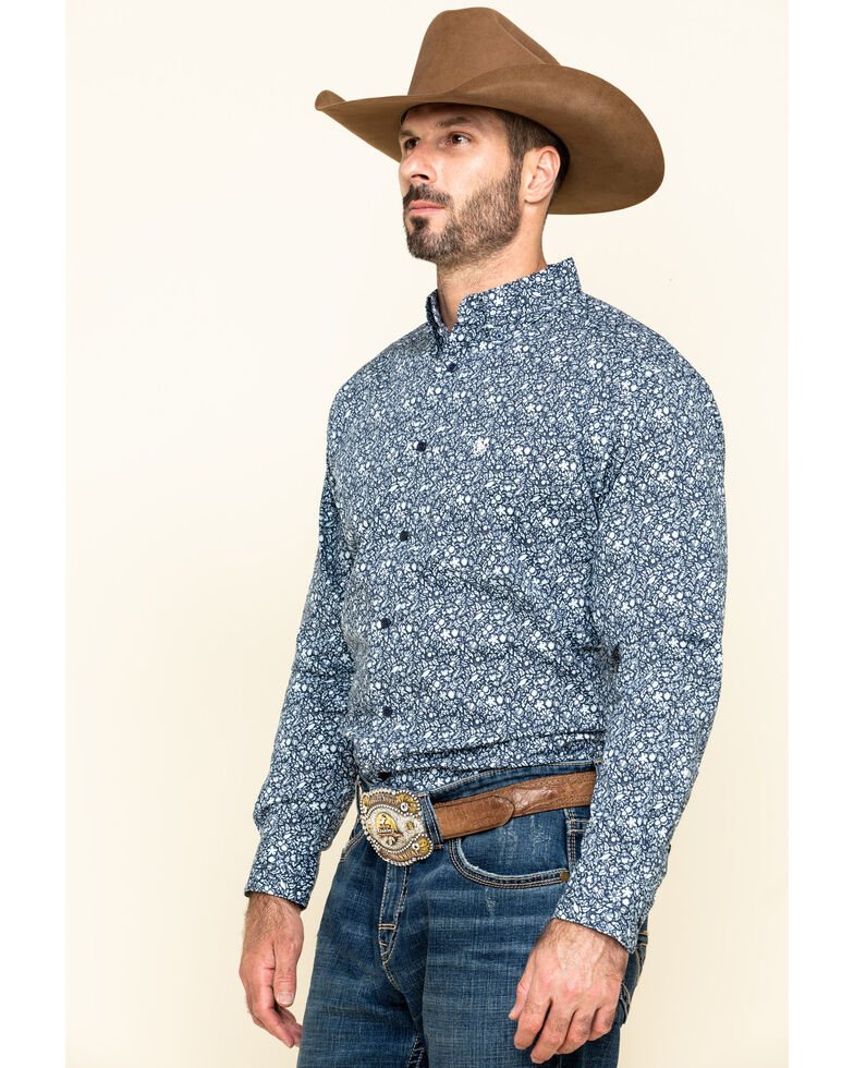 Ariat Men's Namas Stretch Floral Print Long Sleeve Western Shirt - Big , Multi, hi-res