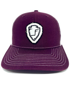 Lane Frost Women's Maroon Frontier Days Cheyenne Arrow Patch Ball Cap , Maroon, hi-res