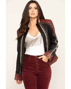 Double D Ranchwear Women's Oxblood By The Rio Grande Jacket, Red, hi-res