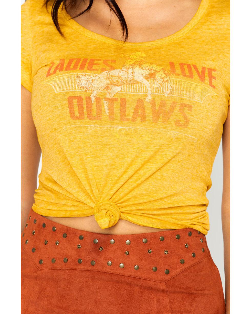 Idyllwind Women's Ladies Love Outlaws Tee, Dark Yellow, hi-res