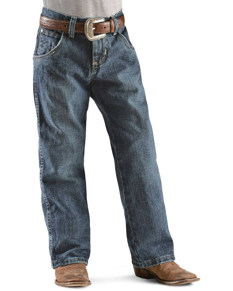 Wrangler Boy's RETRO Straight Leg Western Jean Size 8-16, Denim, hi-res