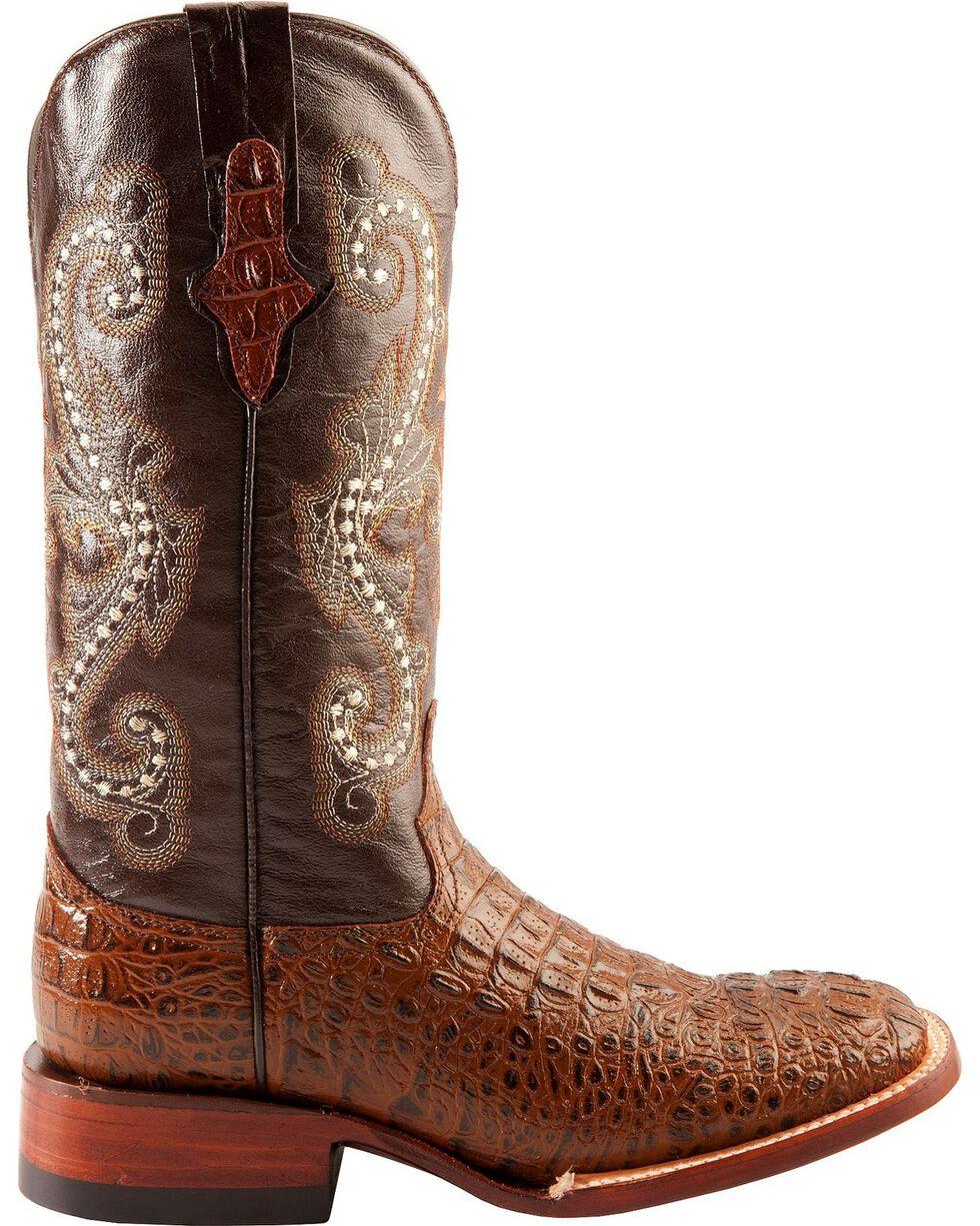 Ferrini Women's Caiman Crocodile Print Western Boots, Rust, hi-res