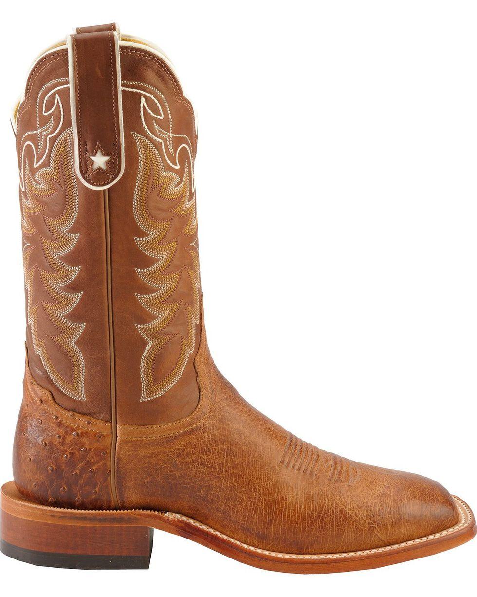 Tony Lama Men's Smooth Ostrich Exotic Boots, Brown, hi-res