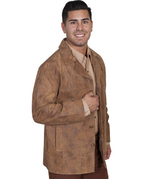 Scully Men's Boar Suede Car Coat, Maple, hi-res