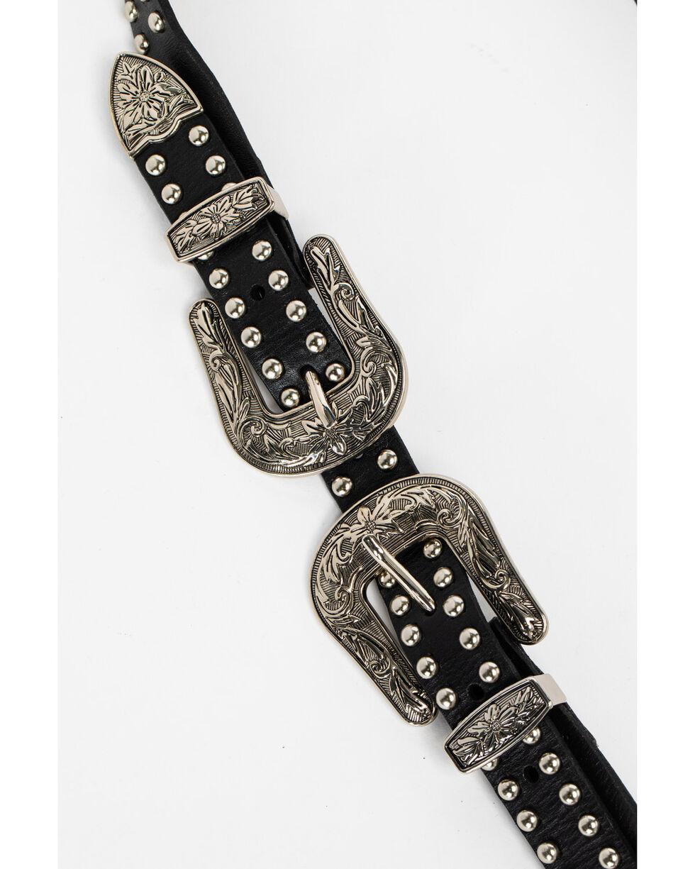 Idyllwind Women's Hey Stud Double Buckle Belt, Black, hi-res