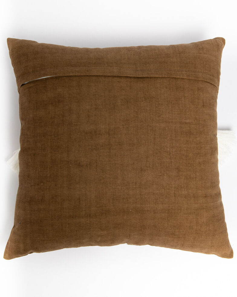 Boot Barn Ranch Taupe Aztec Tassel Pillow, Tan, hi-res
