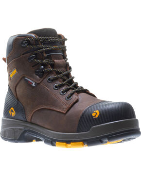 Wolverine Men's Blade LX Waterproof Met Guard Work Boots - Composite Toe, Dark Brown, hi-res