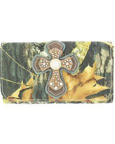 Blazin' Roxx Women's Mossy Oak Camo Wallet, Mossy Oak, hi-res