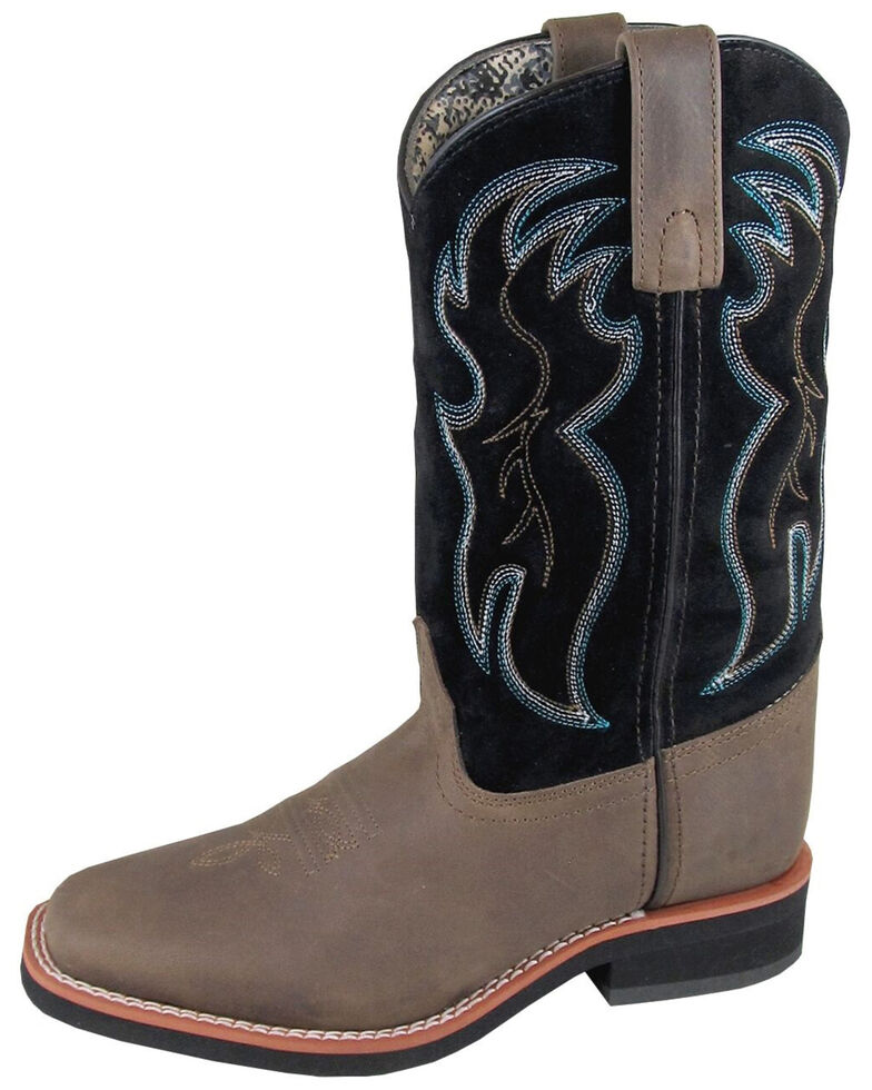 Smoky Mountain Women's Alex Western Boots - Square Toe, Black/brown, hi-res