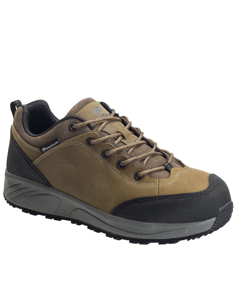 Nautilus Men's Surge Leather Work Shoes - Composite Toe, Brown, hi-res