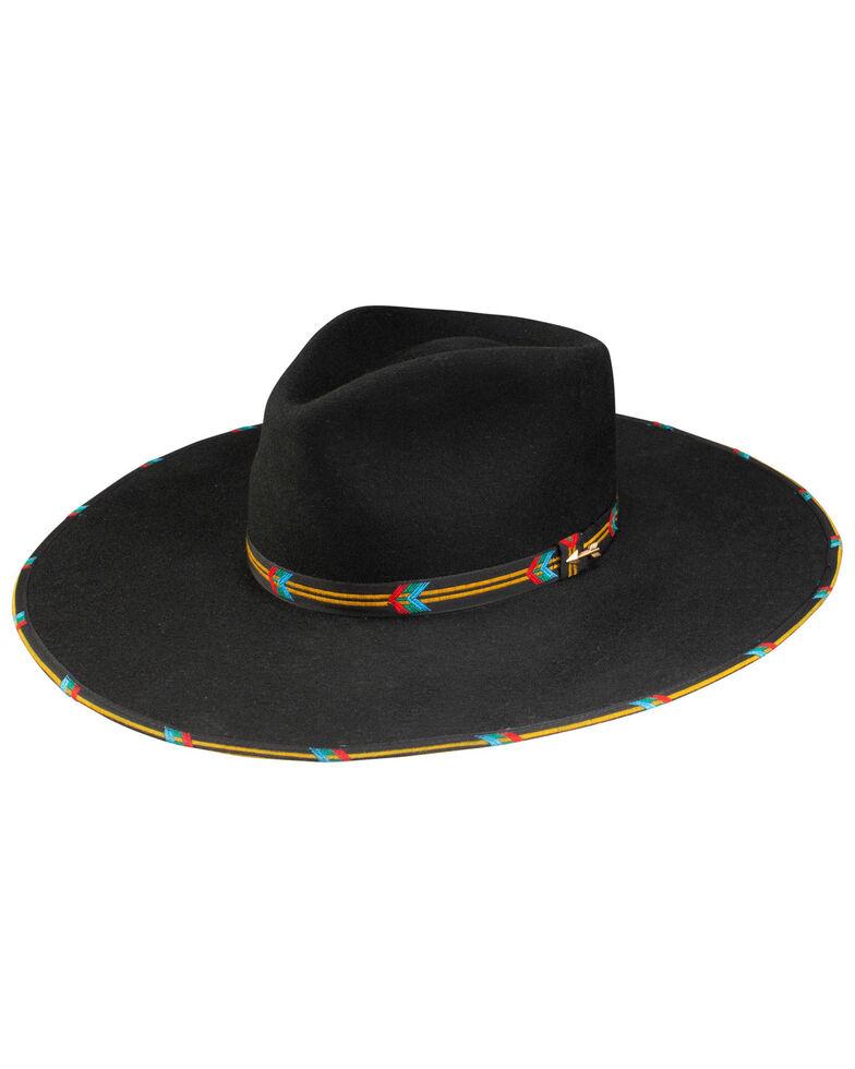 Stetson Women's Black Wildcard Wool Felt Western Hat , Black, hi-res