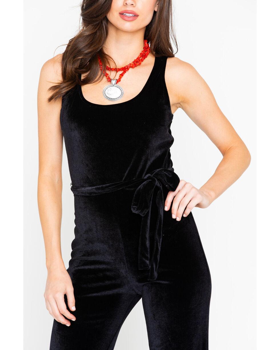 Stetson Women's Velvet Jumsuit, Black, hi-res