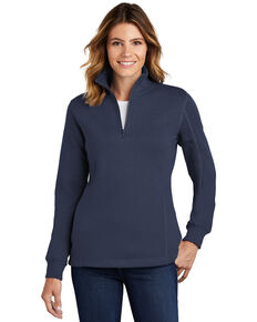 Sport Tek Women's Navy 3X 1/4 Zip Front Work Pullover - Plus, Navy, hi-res