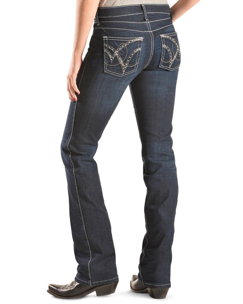 Wrangler Women's Q-Baby Booty Up Riding Jeans, Denim, hi-res
