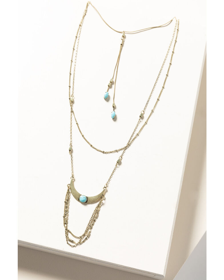 Shyanne Women's Gilded Gold Slim Chain Necklace, Gold, hi-res