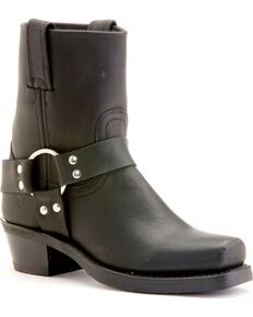 Frye Women's Harness Motorcycle Boots, Black, hi-res