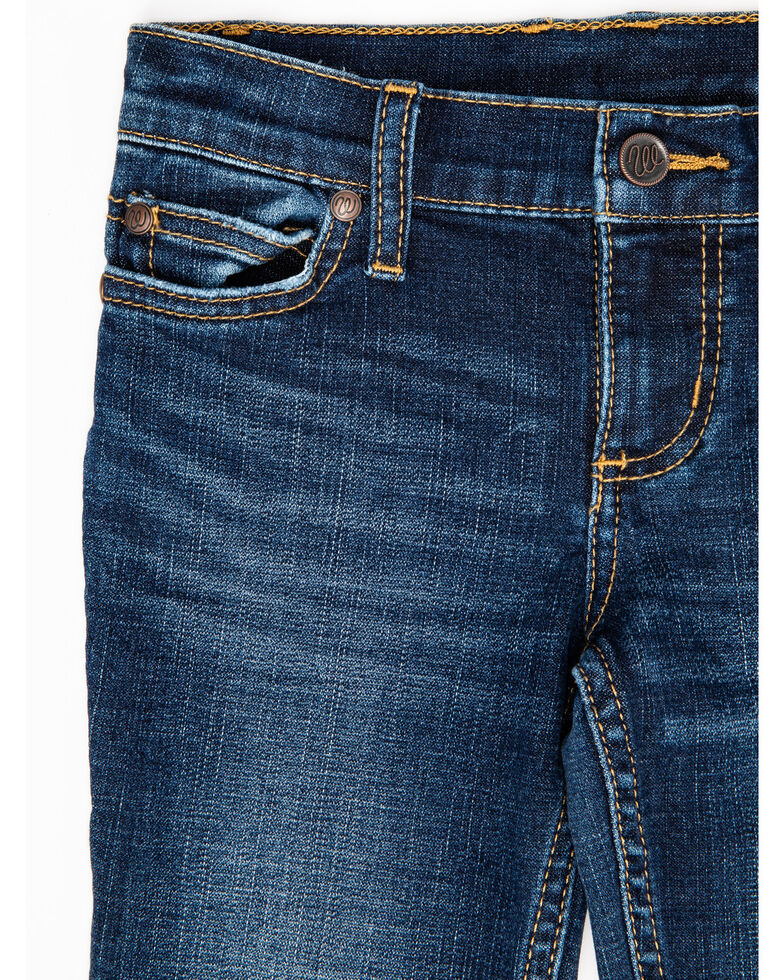 Wrangler Girls' Stormy Everyday Bootcut Jeans, Blue, hi-res
