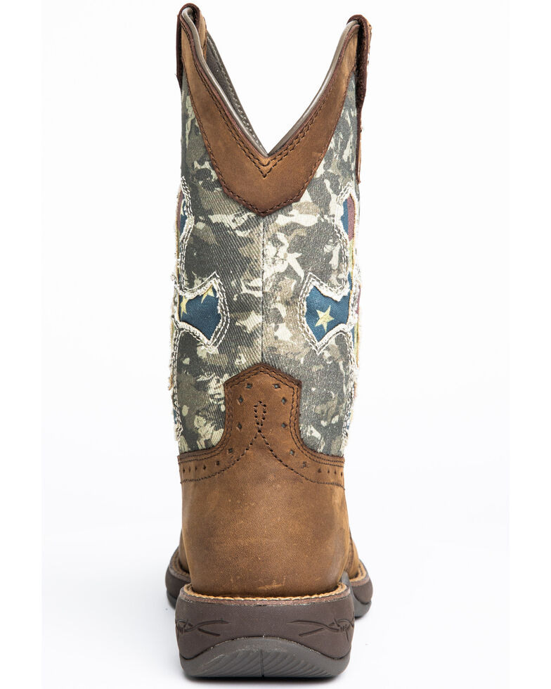 Cody James Men's Tychee Camo Flag Underlay Western Boots - Wide Square Toe, Camouflage, hi-res