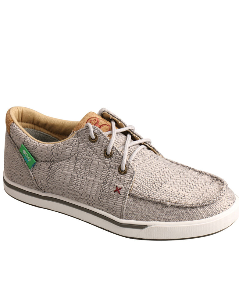Twisted X Women's Light Grey Hooey Sneakers - Moc Toe, Light Grey, hi-res
