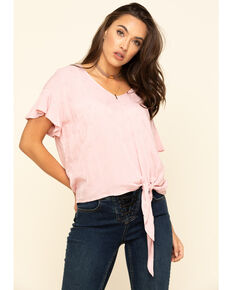 Ariat Women's Pink Crossroads Top, Pink, hi-res