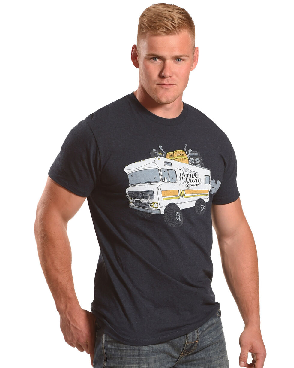 Moonshine Spirit Men's Powered Bus Tee , Navy, hi-res