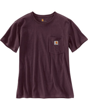 Carhartt Women's Workwear Pocket T-Shirt, Wine, hi-res