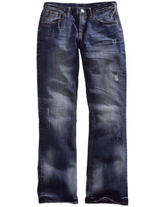 Tin Haul Men's Jagger Fit Two-Tone Stitch Bootcut Jeans, Denim, hi-res