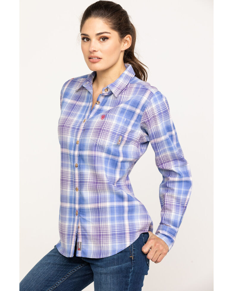 Ariat Women's FR French Spade Amelia Work Shirt, Multi, hi-res