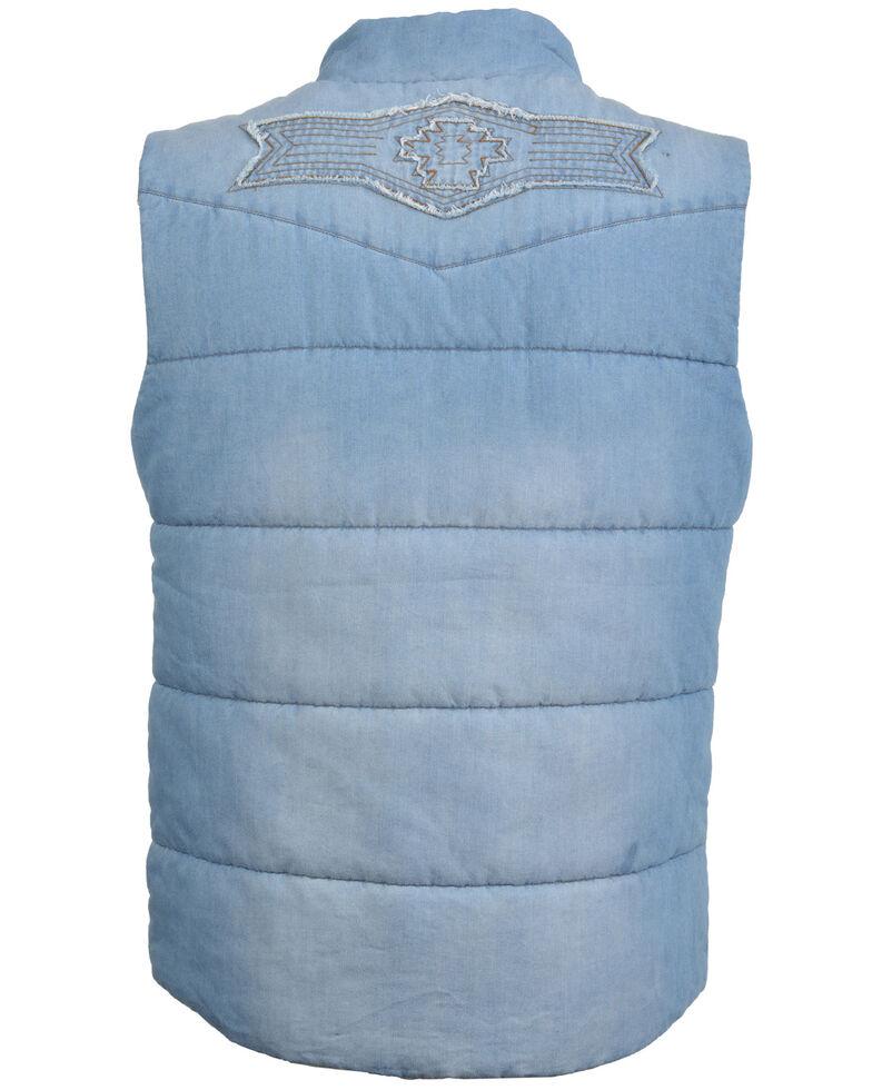 STS Ranchwear Women's Mesa Denim Vest, Blue, hi-res