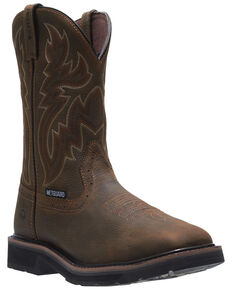 Wolverine Men's Rancher Western Work Boots - Steel Toe, Dark Brown, hi-res