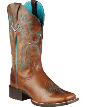 Ariat Women's Tombstone Western Boots, Brown, hi-res
