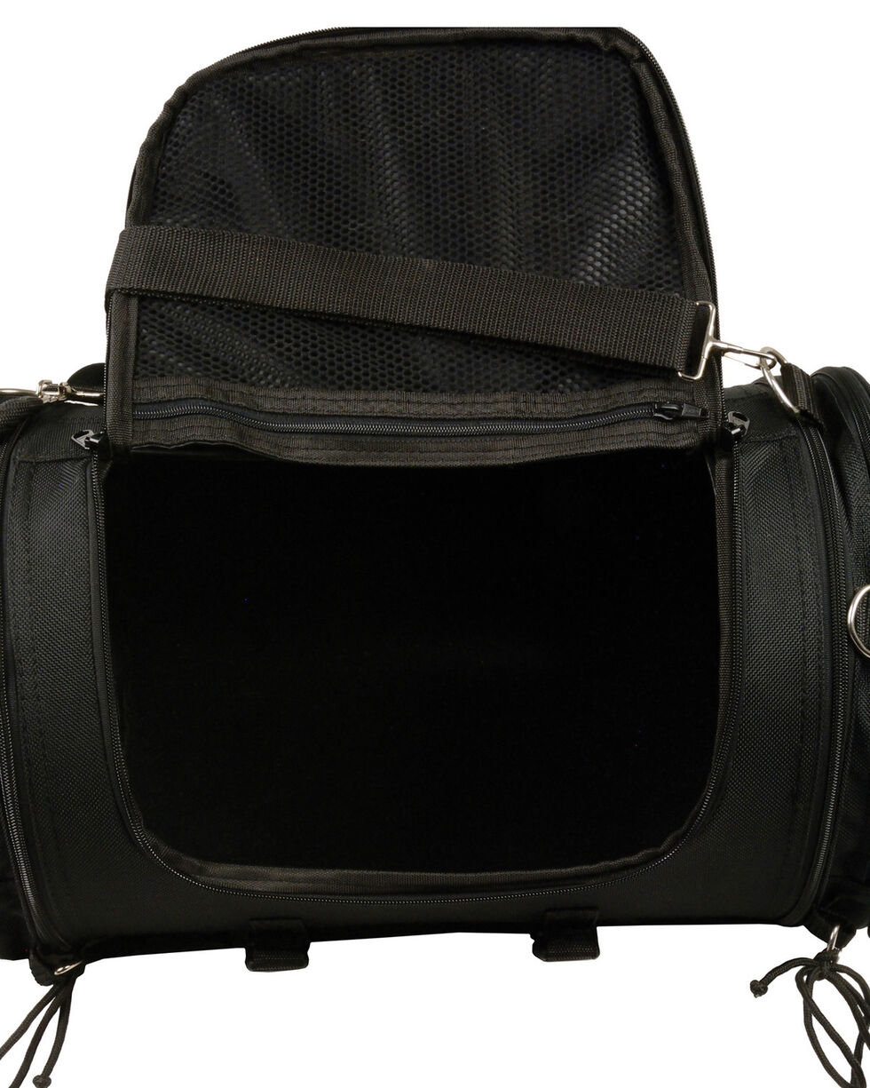 Milwaukee Leather Large Nylon Duffle Sissy Bar Bag, Black, hi-res