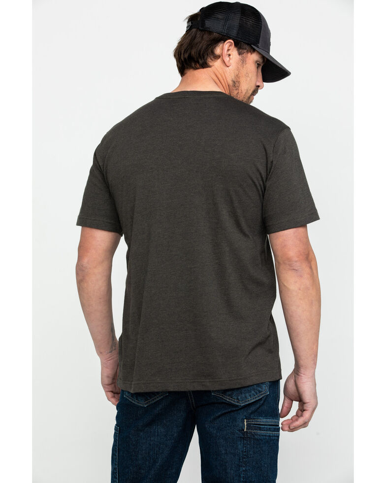 Carhartt Men's Born To Build Graphic Pocket Work T-Shirt, Heather Green, hi-res