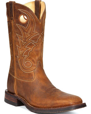 Rocky Men's Handhewn Western Boots, Brown, hi-res