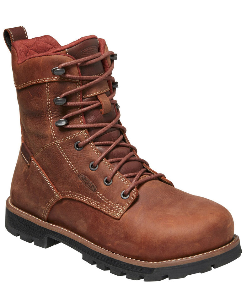 Keen Women's Seattle Waterproof Work Boots - Aluminum Toe, Brown, hi-res