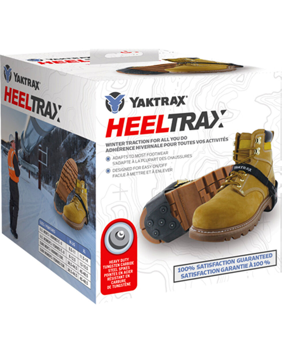 Yaktrax Black HeelTrax Boot Ice Traction , Black, hi-res