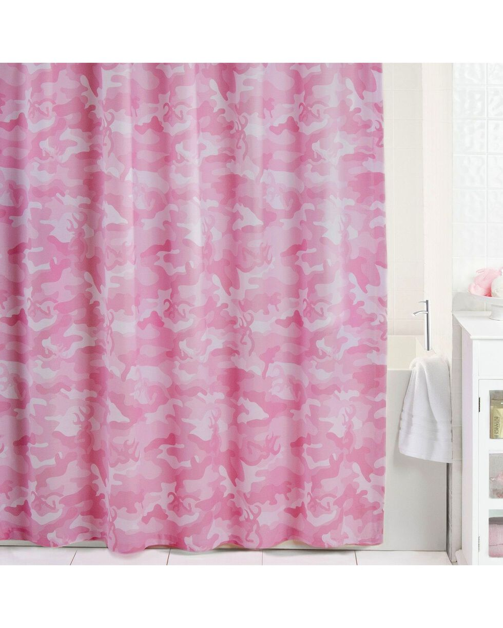 Browning Buckcamo Pink Shower Curtain, Pink, hi-res