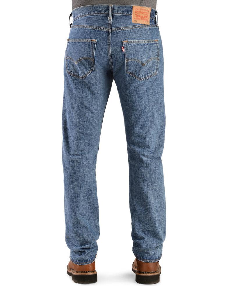 fb3ec4a7 Zoomed Image Levi's Men's Rinsed 501 Original Jeans, Stonewash, hi-res