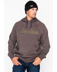 Cinch Men's Brown Fleece Logo Hoodie , Brown, hi-res