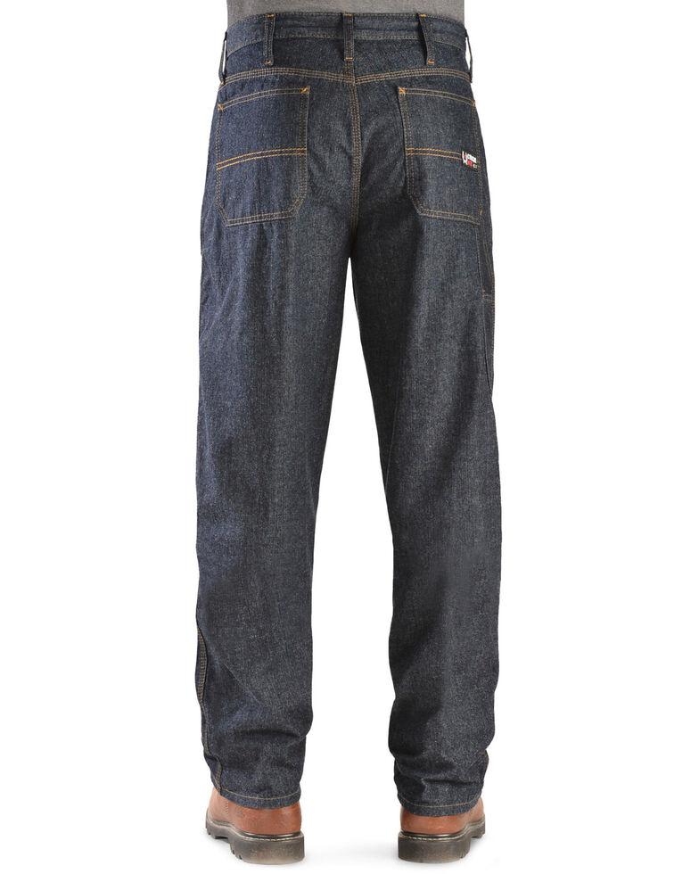 "Cinch Men's Blue Label Carpenter WRX Flame Resistant Jeans - 38"" Inseam, Dark Rinse, hi-res"
