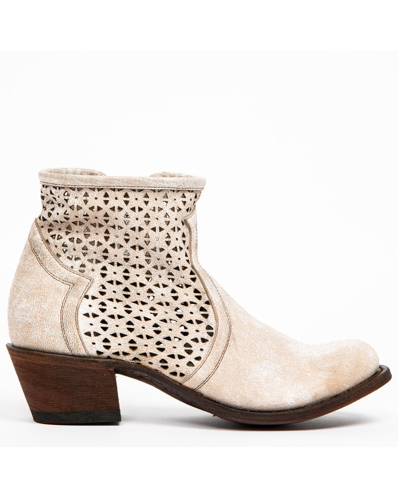 Shyanne Women's Blanco Cafe Western Booties - Round Toe, , hi-res