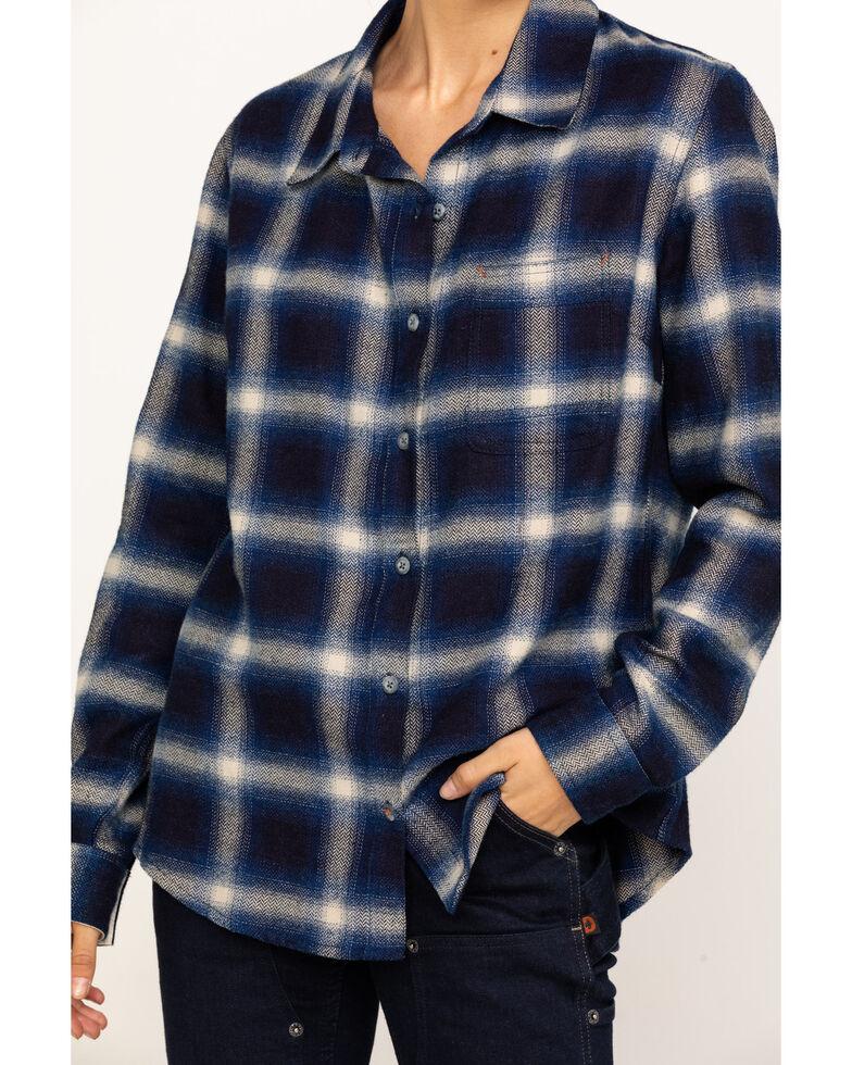 Dovetail Workwear Women's Plaid Givens Long Sleeve Work Shirt, Indigo, hi-res