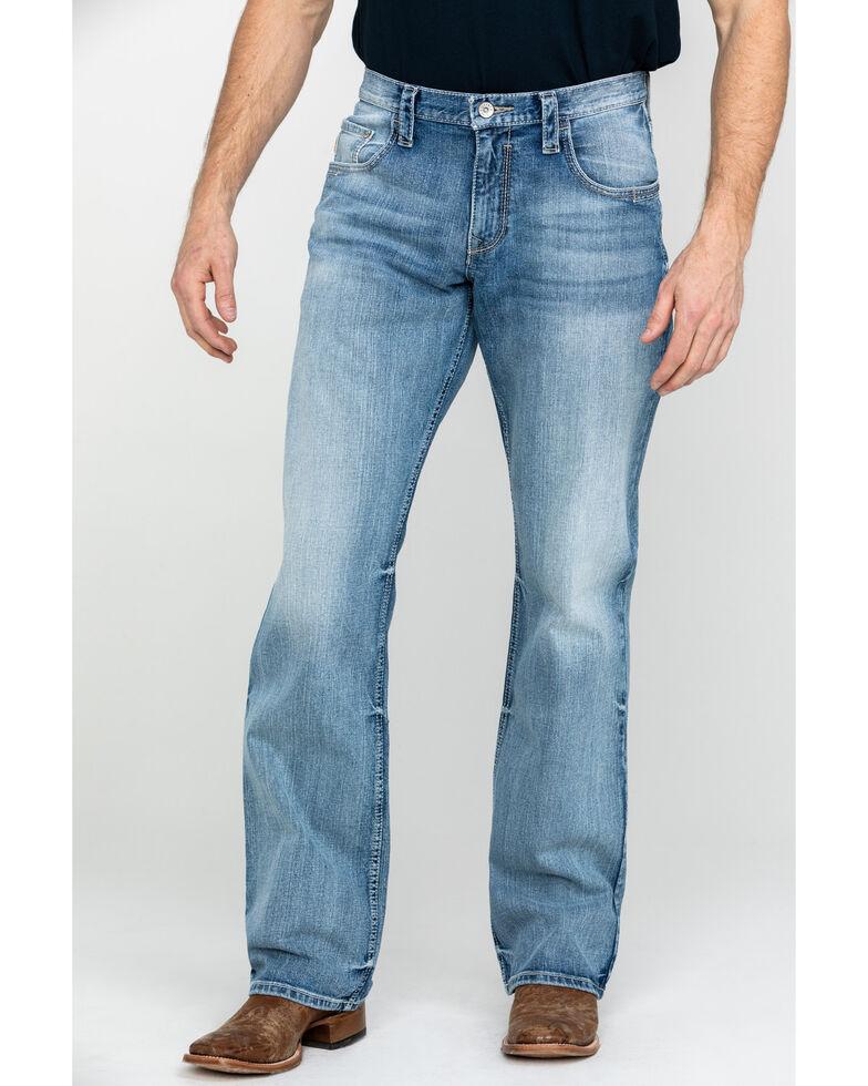 Cinch Men's Carter 2.0 Light Stonewash Relaxed Boot Jeans , Indigo, hi-res