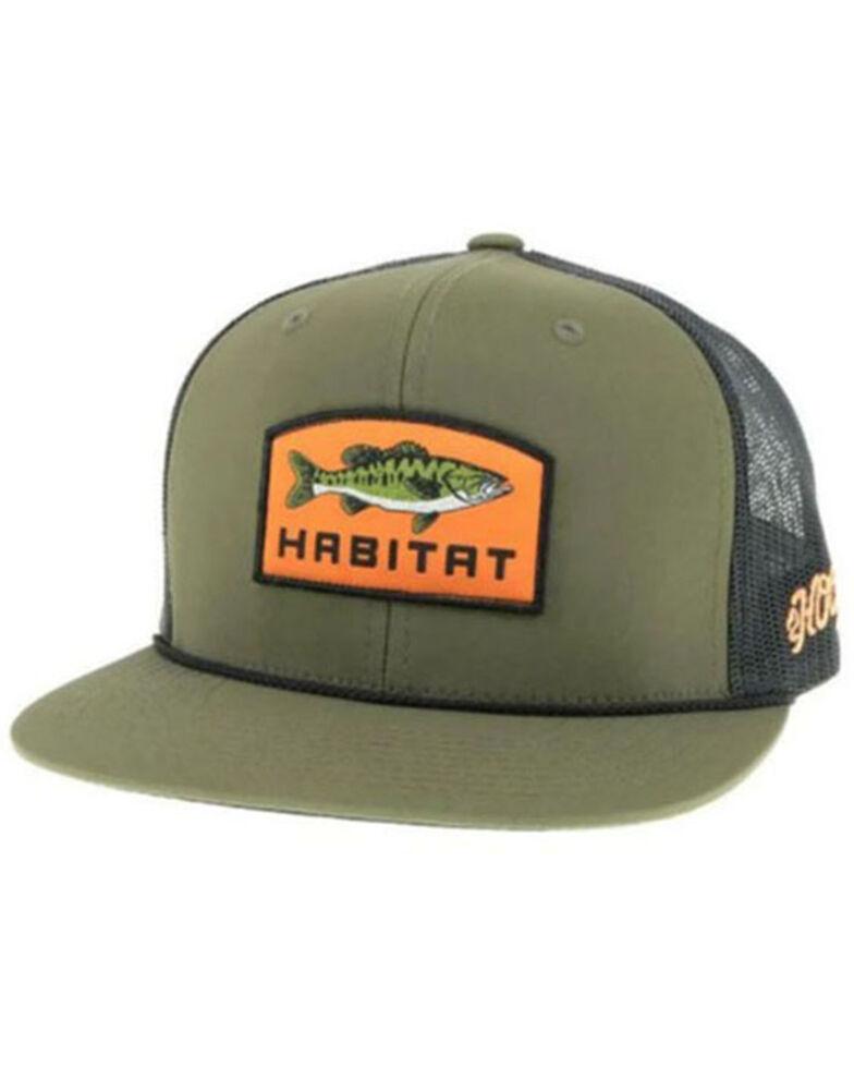 HOOey Men's Olive & Black Habitat Patch Mesh-Back Ball Cap , Olive, hi-res