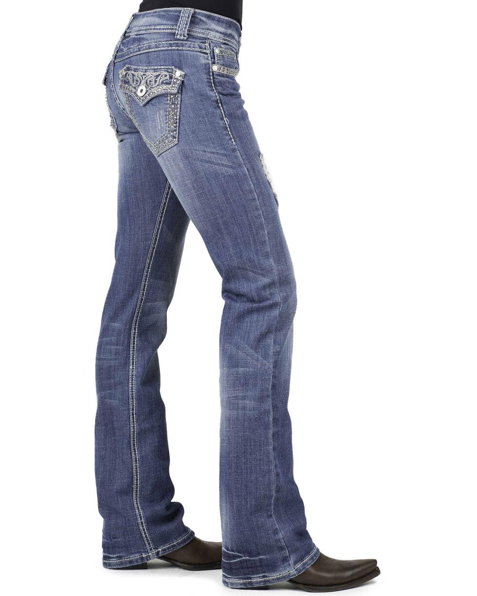 Stetson Women's Boot Cut Flap Pocket  Jeans, Denim, hi-res