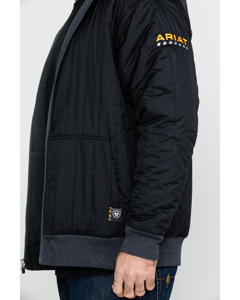 Ariat Men's Charcoal Rebar Cold Weather Reversible Work Hoodie - Big & Tall , Charcoal, hi-res