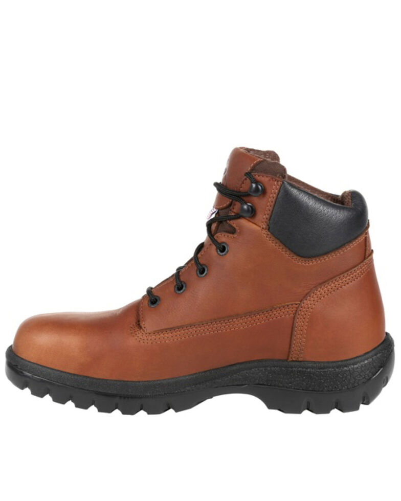Rocky Men's Worksmart Waterproof Work Boots - Steel Toe, Brown, hi-res