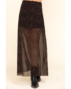 Free People Women's Floral Seven Wonders Skirt, Black, hi-res