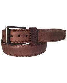 Berne Men's Distressed Brown Leather Belt, Brown, hi-res