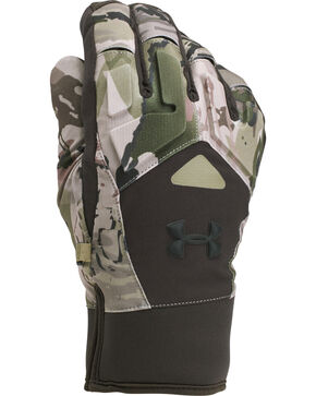 Under Armour Men's Cannon Camo Scent Control 2.0 Primer Gloves , Camouflage, hi-res